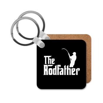 The rodfather, Μπρελόκ Ξύλινο τετράγωνο MDF 5cm (3mm πάχος)