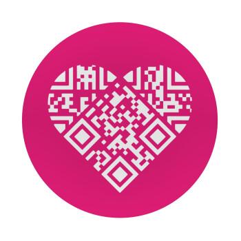 Heart hidden MSG, try me!!!, Mousepad Στρογγυλό 20cm