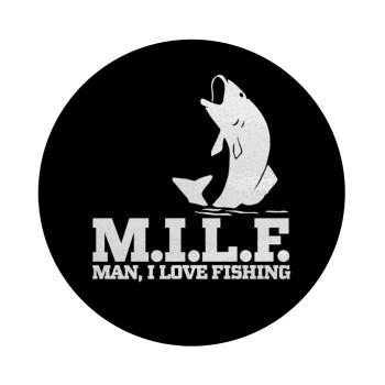 M.I.L.F. Mam i love fishing, Επιφάνεια κοπής γυάλινη στρογγυλή (30cm)