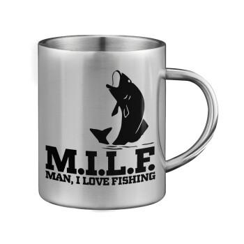 M.I.L.F. Mam i love fishing, Κούπα ανοξείδωτη διπλού τοιχώματος μεγάλη 350ml