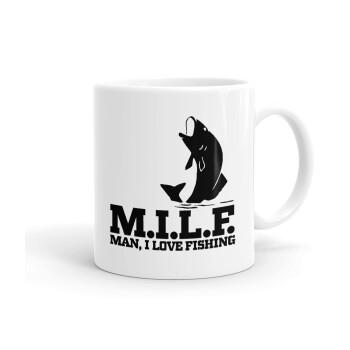 M.I.L.F. Mam i love fishing, Κούπα, κεραμική, 330ml (1 τεμάχιο)