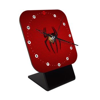 Άνθρωπος αράχνη, Επιτραπέζιο ρολόι ξύλινο με δείκτες (10cm)