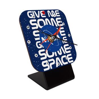 NASA give me some space, Επιτραπέζιο ρολόι ξύλινο με δείκτες (10cm)