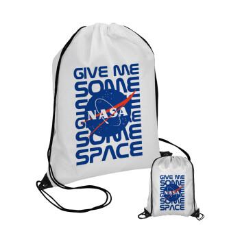 NASA give me some space, Τσάντα πουγκί με μαύρα κορδόνια 45χ35cm (1 τεμάχιο)