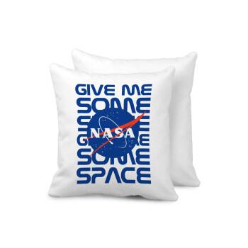 NASA give me some space, Μαξιλάρι καναπέ 40x40cm περιέχεται το γέμισμα