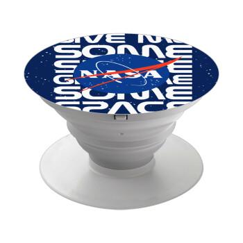 NASA give me some space, Pop Socket Λευκό Βάση Στήριξης Κινητού στο Χέρι