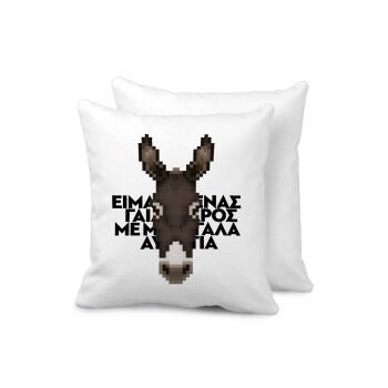 Είμαι ένας γάιδαρος με μεγάλα αυτιά., Μαξιλάρι καναπέ 40x40cm περιέχεται το γέμισμα