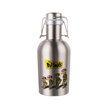 The Daltons, Μεταλλικό παγούρι Inox (Stainless steel) με καπάκι ασφαλείας 1L