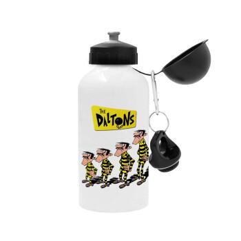 The Daltons, Μεταλλικό παγούρι ποδηλάτου, Λευκό, αλουμινίου 500ml