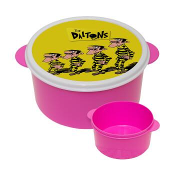 The Daltons, ΡΟΖ παιδικό δοχείο φαγητού πλαστικό (BPA-FREE) Lunch Βox M16 x Π16 x Υ8cm