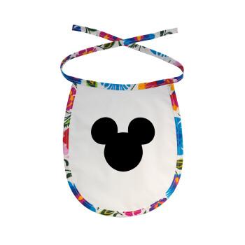 mouse man, Σαλιάρα μωρού αλέκιαστη με κορδόνι Χρωματιστή