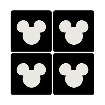 mouse man, ΣΕΤ 4 Σουβέρ ξύλινα τετράγωνα