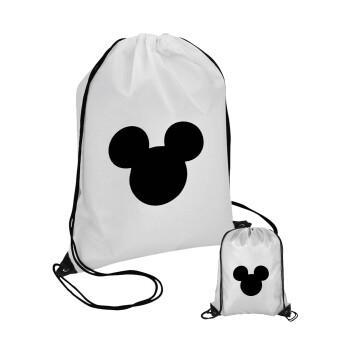 mouse man, Τσάντα πουγκί με μαύρα κορδόνια 45χ35cm (1 τεμάχιο)