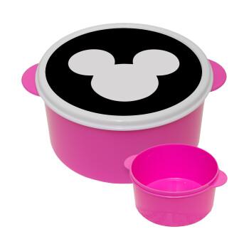 mouse man, ΡΟΖ παιδικό δοχείο φαγητού πλαστικό (BPA-FREE) Lunch Βox M16 x Π16 x Υ8cm