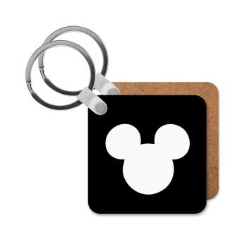 mouse man, Μπρελόκ Ξύλινο τετράγωνο MDF 5cm (3mm πάχος)