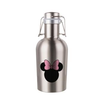 mouse girl, Μεταλλικό παγούρι Inox (Stainless steel) με καπάκι ασφαλείας 1L