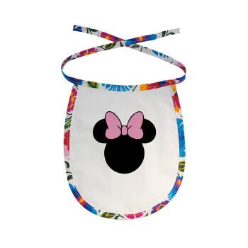 mouse girl, Σαλιάρα μωρού αλέκιαστη με κορδόνι Χρωματιστή