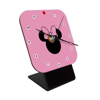 mouse girl, Επιτραπέζιο ρολόι ξύλινο με δείκτες (10cm)
