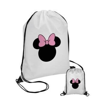 mouse girl, Τσάντα πουγκί με μαύρα κορδόνια 45χ35cm (1 τεμάχιο)