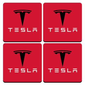 Tesla motors, ΣΕΤ 4 Σουβέρ ξύλινα τετράγωνα