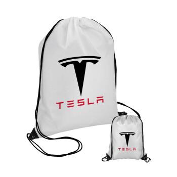 Tesla motors, Τσάντα πουγκί με μαύρα κορδόνια 45χ35cm (1 τεμάχιο)