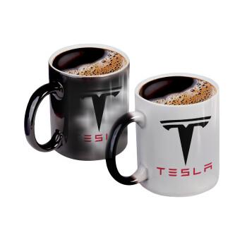 Tesla motors, Κούπα Μαγική, κεραμική, 330ml που αλλάζει χρώμα με το ζεστό ρόφημα (1 τεμάχιο)