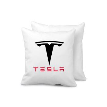 Tesla motors, Μαξιλάρι καναπέ 40x40cm περιέχεται το γέμισμα