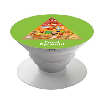 Διατροφική πυραμίδα, Pop Socket Λευκό Βάση Στήριξης Κινητού στο Χέρι