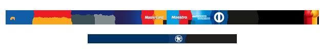 λογότυπα τραπεζών για ηλεκτρονικές συναλλαγές πληρωμές